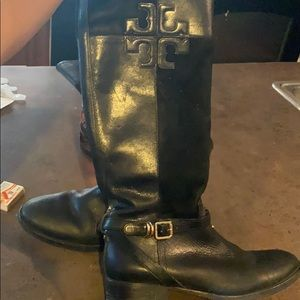 Authentic Tory Burch leather boots size 9.5